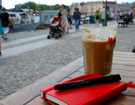 Red Moleskine with Coffee